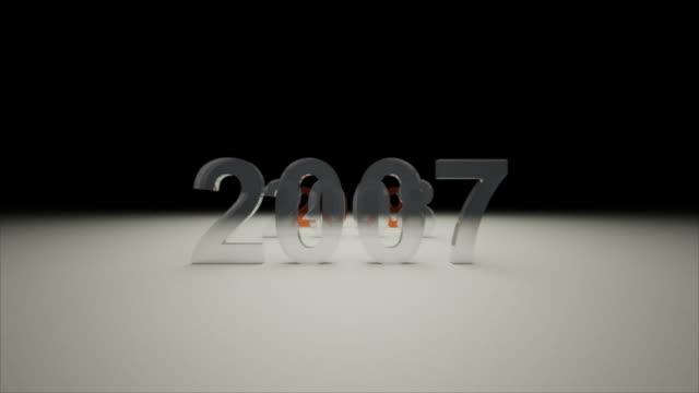 nuovo anno - 2009 - anno 2007 video stock e b–roll