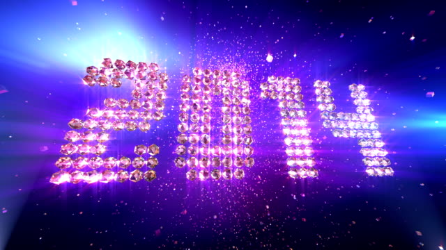 HD: New Year 2014 Background Animation