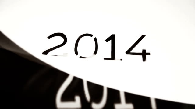 new year 2014 paper painting stencil - stencil stock videos & royalty-free footage