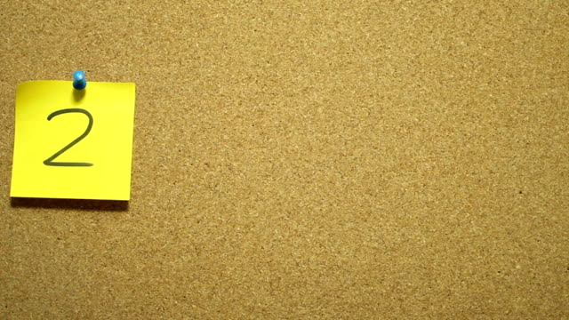 new year 2015 adhesive note on corkboard - notice board stock videos and b-roll footage