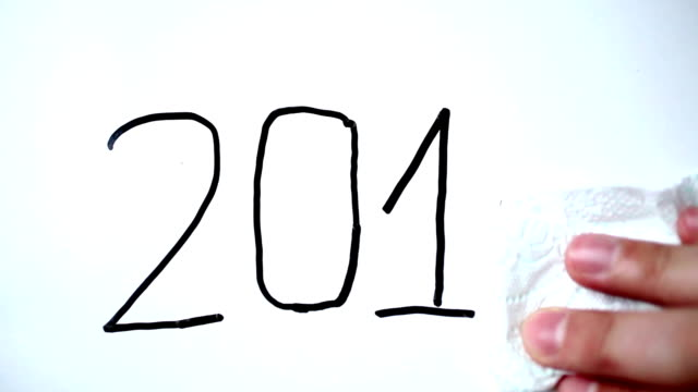 new year 2015 - interactive whiteboard stock videos & royalty-free footage