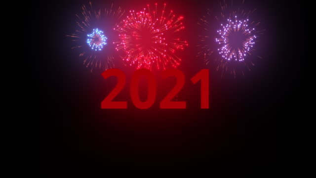 new year 2021 celebration colourful fireworks light up the sky with dazzling display - audio available stock videos & royalty-free footage