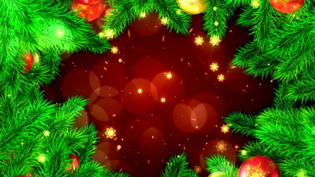 vidéos et rushes de fond abstrait de la nouvelle année - stock vidéo - carte de noël
