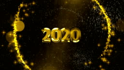 new year background 2020 - stock video