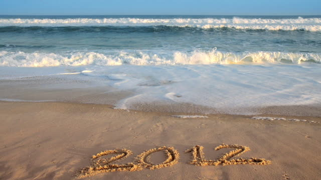 new year beach - 2012 - leite stock videos and b-roll footage