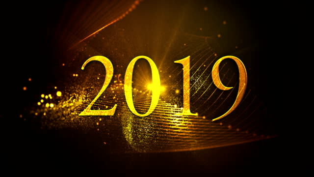 2019 new year loopable animation - 2019 stock videos & royalty-free footage