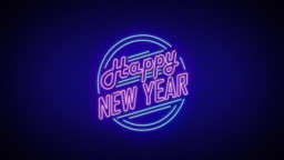 New Year neon sign
