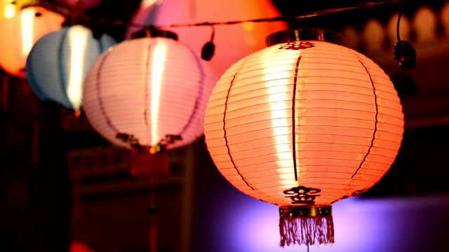 new year night festival - chinese lantern festival stock videos and b-roll footage