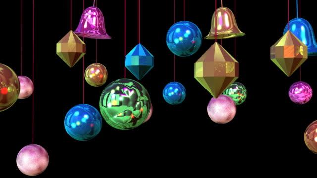 decorazione di capodanno#11 alpha - arte, cultura e spettacolo video stock e b–roll