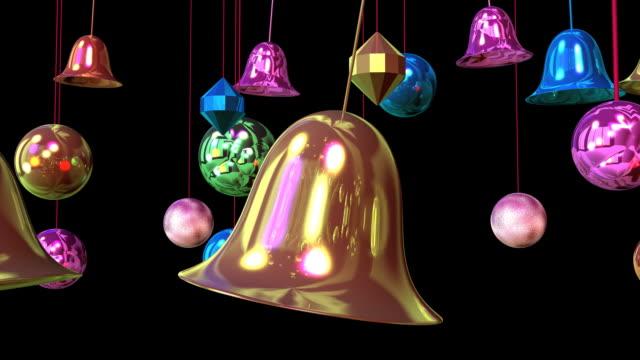 新年の装飾#10 - ベル点の映像素材/bロール