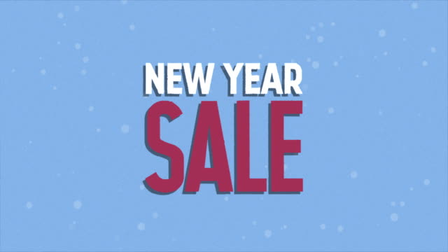 new year sale banner - poster template stock videos & royalty-free footage