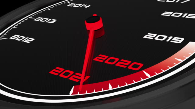 2021 new year speedometer. full hd video - speedometer stock videos & royalty-free footage