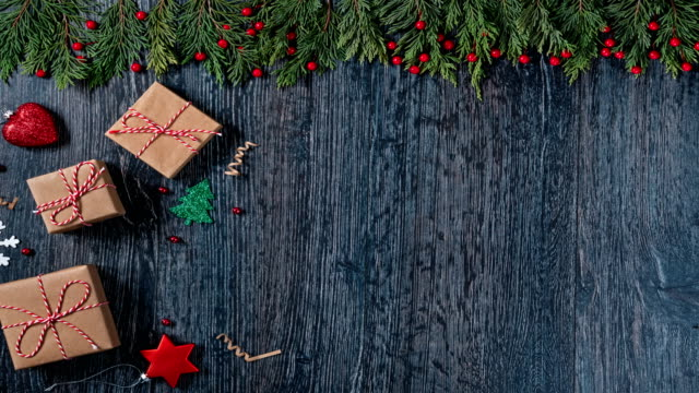 4k new year stop motion backgrounds - christmas tree stock videos & royalty-free footage