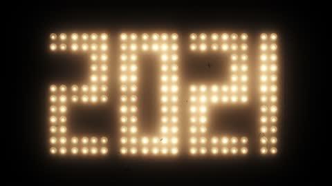 2021 nyår med gamla film effect - nedräkning bildbanksvideor och videomaterial från bakom kulisserna