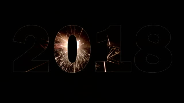 vidéos et rushes de fond de l'an 2018 - touche de couleur