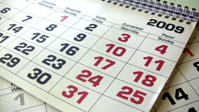 nuovo anno di calendario - 2009 video stock e b–roll