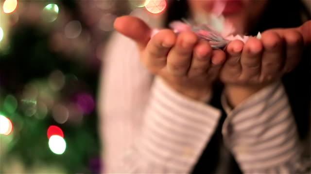 Ano Novo, confetti, plano aproximado
