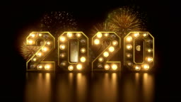 New year's eve countdown to 2020 year