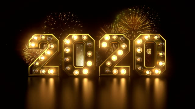 new year's eve countdown to 2020 year - conto alla rovescia video stock e b–roll