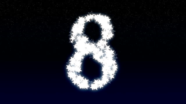 stockvideo's en b-roll-footage met new year's eve countdown - number 8