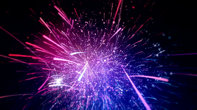 new year's eve fireworks - abstract animation - rocket stock videos & royalty-free footage