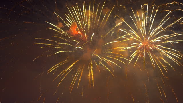 new year's eve fireworks - pyrotechnic effects stock videos & royalty-free footage