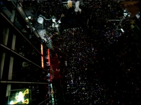 new year's eve in times square; camera overhead - 1999 stock videos & royalty-free footage