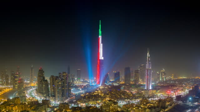 new years firework display, downtown dubai - firework display stock videos & royalty-free footage