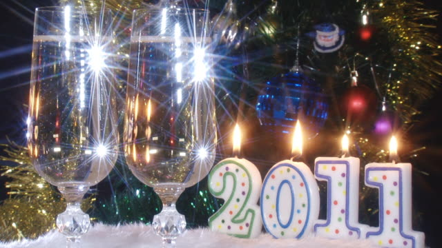new year's holiday - christmas decore candle stock videos & royalty-free footage