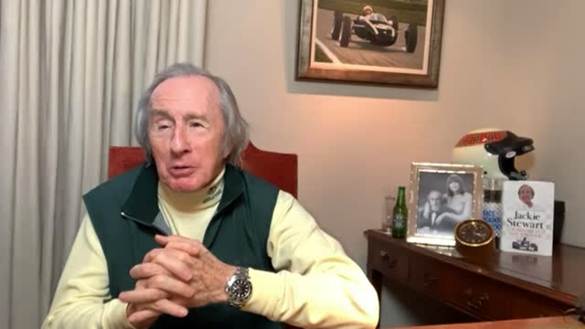stockvideo's en b-roll-footage met new year's honour list 2021: honours list revealed; england: int sir jackie stewart set up shot with reporter / interview via internet sot - new not politics