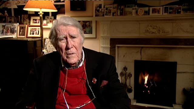 "new year's honours 2013: jerry roberts interview; england: hampshire: int raymond ""jerry"" roberts mbe interview sot - response to receiving mbe jerry... - raymond maine stock videos & royalty-free footage"