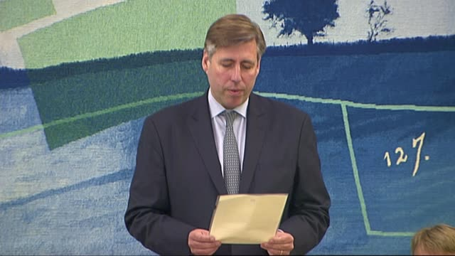 new year's honours list 2018 lib / london int graham brady mp statement / conservative party mp's in meeting room - ehre stock-videos und b-roll-filmmaterial