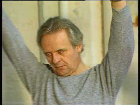 CMS Anthony Hopkins exercising PULL OUT exercise class ITN