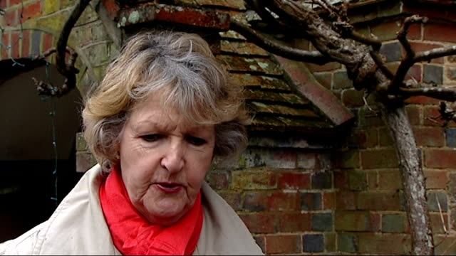 new year's honours list; england: ext dame penelope keith interview sot - penelope keith stock-videos und b-roll-filmmaterial