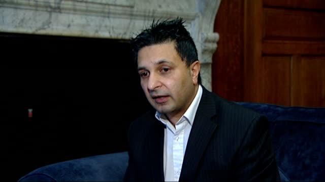 New Year's Honours List Interviews ENGLAND London INT Jasvir Jassal interview SOT British Empire medal award / Set up shots