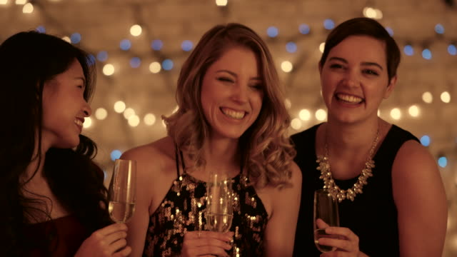 new years party - evening gown stock videos & royalty-free footage