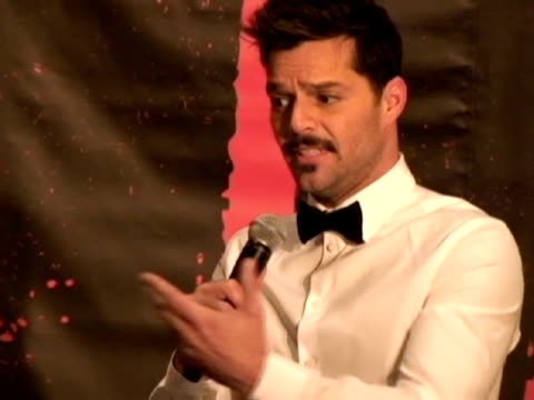 new york 13 mar puerto rican singer ricky martin returns to broadway with a version of the classic musical 'evita' in which martin gives life to... - ricky martin stock videos and b-roll footage
