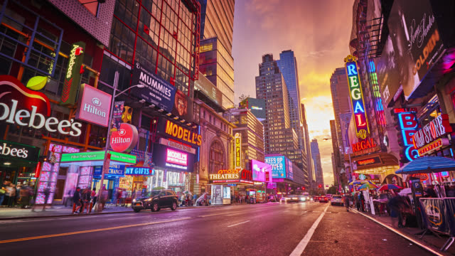 new york, 42nd street, urban - advertisement stock videos & royalty-free footage