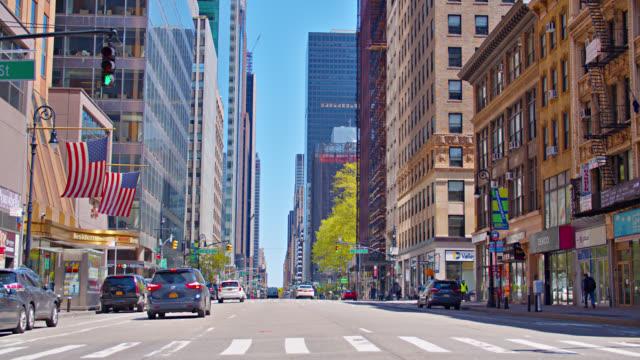 new york avenue. city street - avenue stock videos & royalty-free footage
