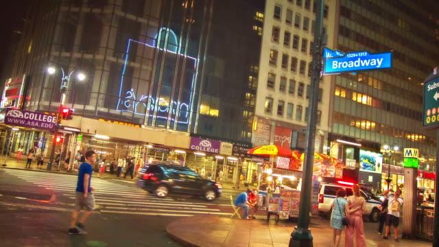 broadway in new york - fensterfront stock-videos und b-roll-filmmaterial