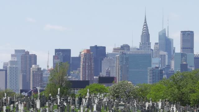 New York Calvary Cemetery and Manhattan Buildings