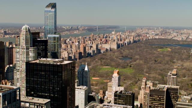 vídeos de stock, filmes e b-roll de nova york-vista do central park - ponto de observação