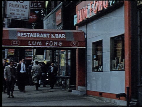 new york city 1959 - 6 of 11 - chinese language stock videos & royalty-free footage