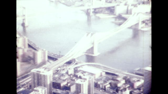 vidéos et rushes de new york city 1977 - pont de brooklyn