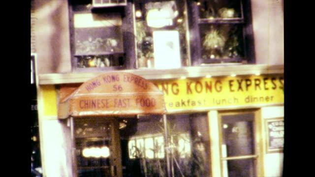 new york city 1977 - insegna di negozio video stock e b–roll