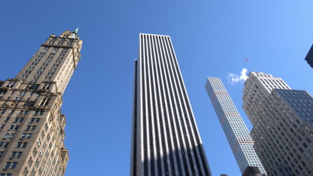 new york city 59th street and central park - panning stock videos & royalty-free footage