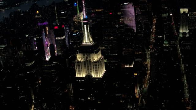 New York City aerial footage