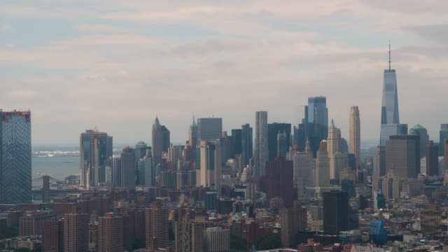 new york city aerial view - the americas stock videos & royalty-free footage