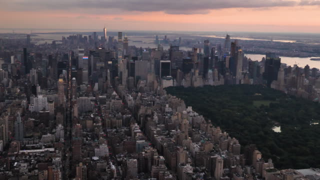 new york city aerial view - helicopter tour stock videos and b-roll footage