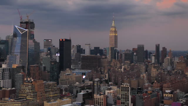 new york city aerial view - helicopter stock videos & royalty-free footage